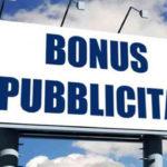 bonus pubblicita